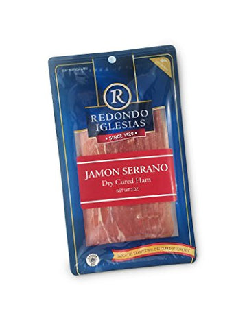 3 Oz Sliced Jamon Serrano - 15 months aged dry cured ham