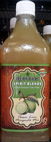 Republic Spirit Blends Classic Lime Margarita Mix 33.8 fl oz (Pack of 2)