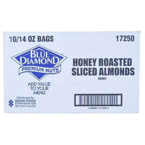 Almond Toppers Honey Brown Sugar 10 Case 14 Ounce