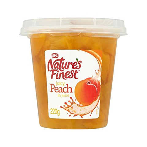 Nature's Finest Peach In Juice 220g