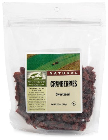 Woodstock Farms All Natural Sweetened Cranberries, 8.5 Ounce -- 8 per case.