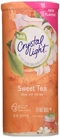 Crystal Light Sweet Tea Drink Mix (12 quart=6 packets) NEW FLAVOR! (Pack of 4)