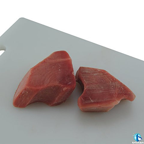 Tristan ULT Frozen, Sashimi Grade Ahi Tuna Steaks - 5 lbs. Skinless, Boneless, and Bloodline Removed