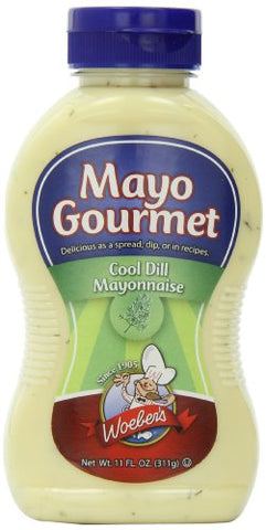 Woebers Mayonnaise, Cool Dill, 11 Ounce