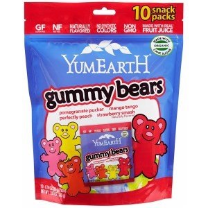 YumEarth, Gummy Bears, Assorted Flavors, 10 Snack Packs, 25.5 g Each(Pack of 3)