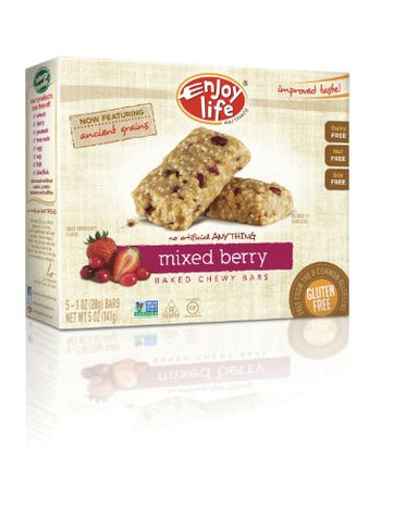 Enjoy Life Chewy On The Go Bars - Very Berry - 5 oz - 5 ct
