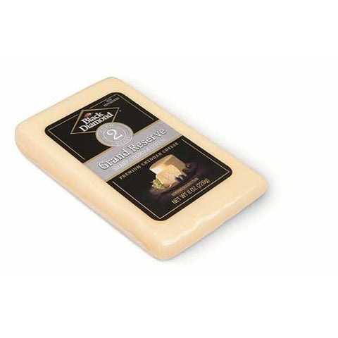 Black Diamond Grand Reserve 2 Year White Cheddar Wedge, 8 Ounce -- 10 per case.
