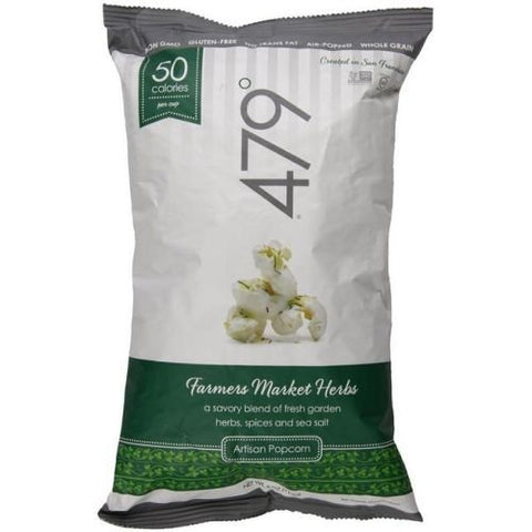 479 Degrees Savory Farmers Market Herbs Artisan Popcorn, 4 Ounce -- 10 per case.