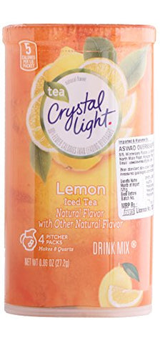 Crystal Light Crystal Light Natural Lemon Ice Tea Drink Mix, Pitcher Packs, 0.96 oz