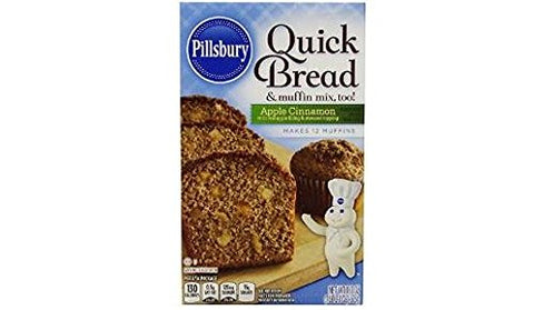 *Pillsbury Apple Cinnamon Quick Bread Mix (Pack of 4) 18.1 oz Boxes