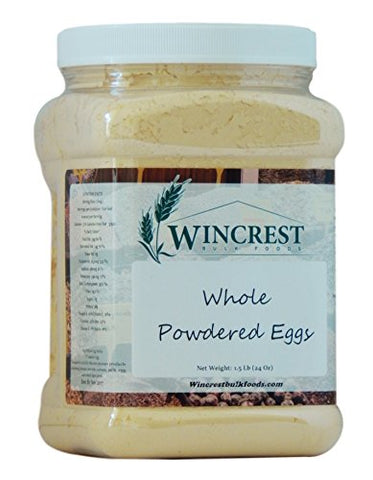 Whole Powdered Eggs - 1.5 Lb (24 Oz) Container