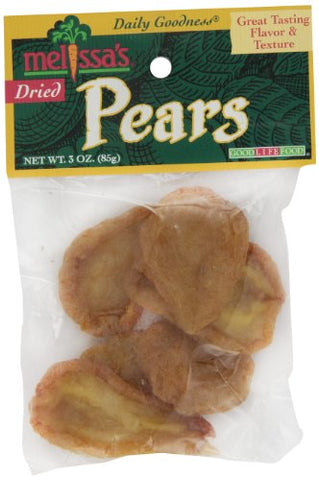 Melissa's Dried Pears, 3-Ounce Bags (Pack of 12)