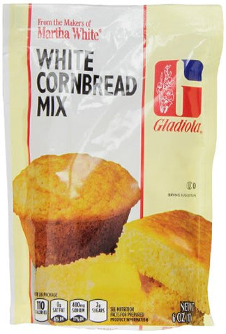 Gladiola White Cornbread Mix, 6-Ounce (Pack of 12)