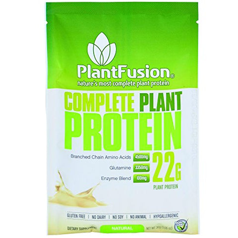 PlantFusion Complete Plant Based Protein Powder, Natural Unflavored, 21g Protein, 30g Packet, 12 Count