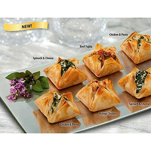 Athens Asiago Chicken Fillo Blossom Appetizer - 25 per pack -- 4 packs per case.