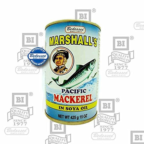 Bedessee Marshall's Pacific Mackerel in soy oil