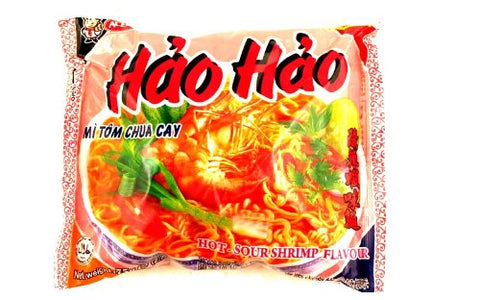 Vina Acecook Hao Hao Mi Tom Chua Cay (Hot Sour Shrimp Flavor Noodle) - 2.7oz (Pack of 1)