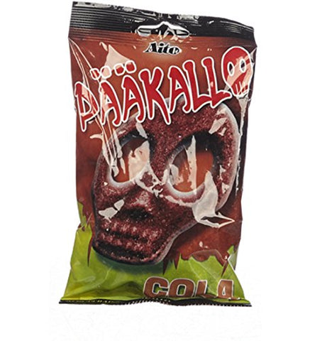 2 Bags x 90g of Aito Pääkallo - Dödskalle - Skull - Cola - Original - Swedish - Sour - Wine Gums - Candy - Sweets