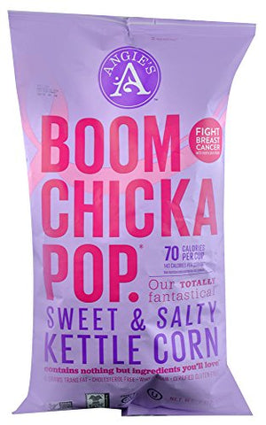 Angies Artisan Treats Boomchickapop Kettle Corn Sweet & Salty -- 7 oz (Pack of 2)