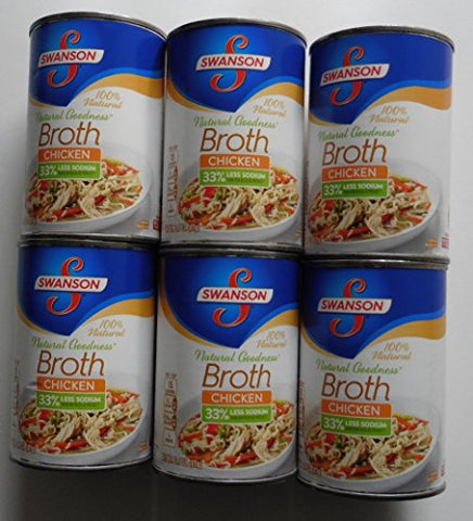 Broth Chicken 33% Less Sodium Natural Goodness 6 Packs Each 14.5Oz