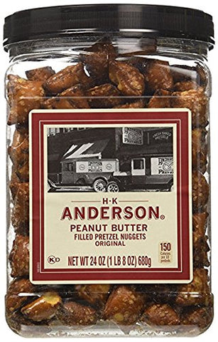 HK Anderson Peanut Butter Filled Pretzel Nuggets (24 Oz. Container)