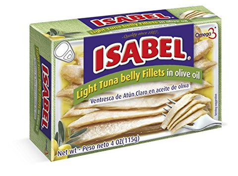 Isabel Light Tuna Ventresca ( Pack of 24 ) Belly Fillets in Olive OIl Canned 4Oz ( 115 g )
