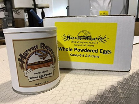 Whole Powdered Eggs - case (6) #2.5 Pull Tab Cans