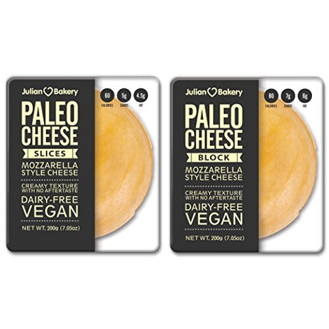 Paleo Cheese Variety Pack (7.05 oz Sliced & 7.05 oz Block) Combo (Low Carb & Dairy Free) Vegan