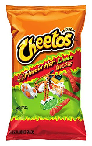 9oz Cheetos Flamin Hot Limon Crunchy (Flaming Hot Lime), Pack of 4