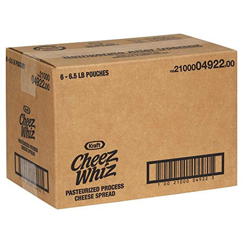Cheez Whiz Pasteurized Process Cheese Spread, 6.5 Pound -- 6 per case.