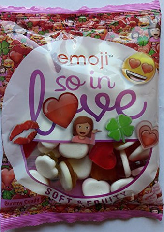 Emoji So in Love! Soft & Fruity Gummy Candy (2 x 175g) - Fruity Flavour Jelly Sweets with Foam