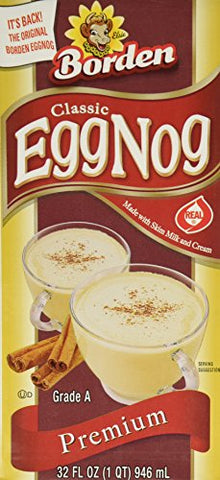 Borden Egg Nog - 32 Oz Box - Pack of 3