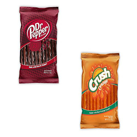 Kenny's Juicy Twists - Dr. Pepper and Orange Crush - Variety 2 Pack - Nt. Weight 10 oz - Fresh Product