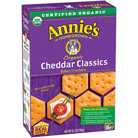 Annie's Homegrown Organic Bunny Classic Cheddar Crackers - 6.5 oz