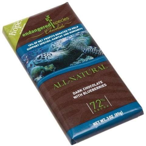 All-Natural Dark Chocolate with Blueberries (Sea Turtle)