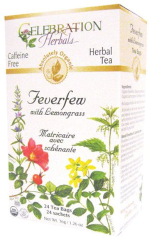 Feverfew Lemongrass Organic-24 bag
