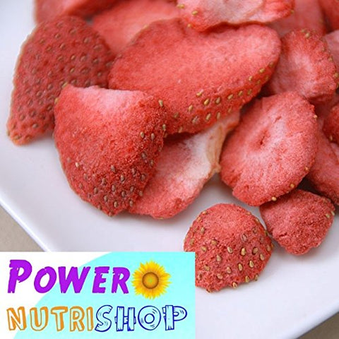 (8 oz) All Natural Freeze Dried Sliced Strawberries,NO Preservatives,NO sweetener