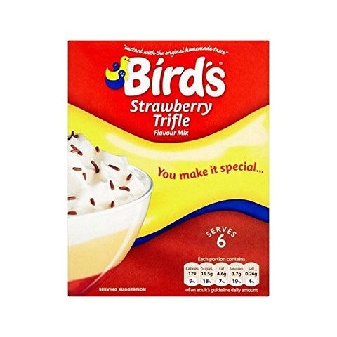 Bird's Trifle Mix Strawberry 141g - Pack of 4