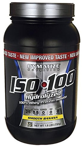 Dymatize Iso 100 Whey Protein Isolate, Smooth Banana 1.6 LB (Pack of 1) + (Vitaminder Power Shaker Bottle, 20 oz Bottle)