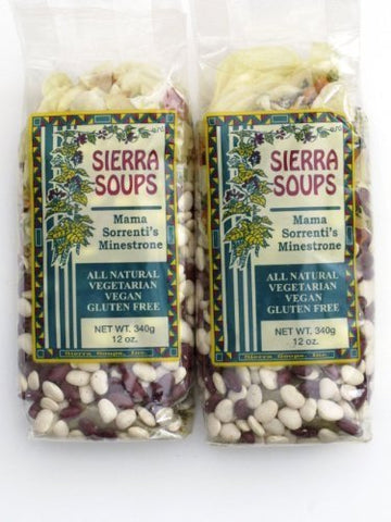 All Natural Gluten Free Vegetarian Vegan Mama Sorrenti's Minestrone Mix Pack of 2 340 g 12 oz each