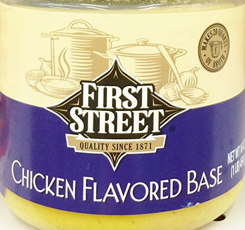 16oz First Street Chicken Flavored Soup Base, Pack of 1