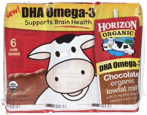 Horizon Organic Dairy Organic 1% Low Fat Milk - Chocolate - 8 oz - 6 pk