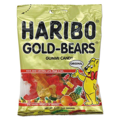 Haribo - Gummi Candy, Gummi Bears, Original Assortment, 5oz Bag, 12/Carton 30220 (DMi CT