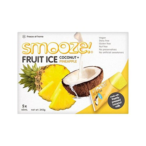 Smooze Pineapple Fruit Ice Lollies 5 x 65ml - Pack of 4