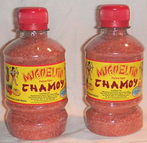 2 X Miguelito Chamoy Chilito Polvo Mexican Candy Chili Powder 2 Bottles 250g Ea