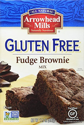 Arrowhead Mills Gluten-Free Fudge Brownie Mix, 17.5 Ounce (Pack of 6)
