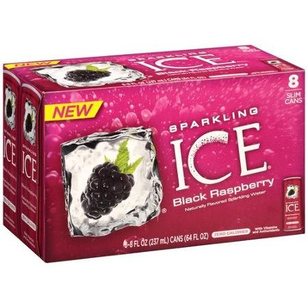 SPARKLING ICE FLAVORED WATER BLACK RASPBERRY 8 OZ CAN 8 PACK