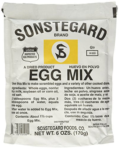 Powdered Eggs Dried Egg Mix for Scrambled Eggs, Baking, Camping 6 oz by Sonstegard