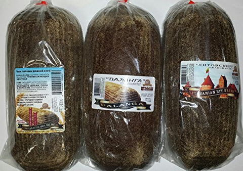 NEW European Bread Sampler #3 {4 Kinds of Gourmet Rye Breads (European Rye, Lithuanian Rye, Riga Rye, &Palanga Rye)}