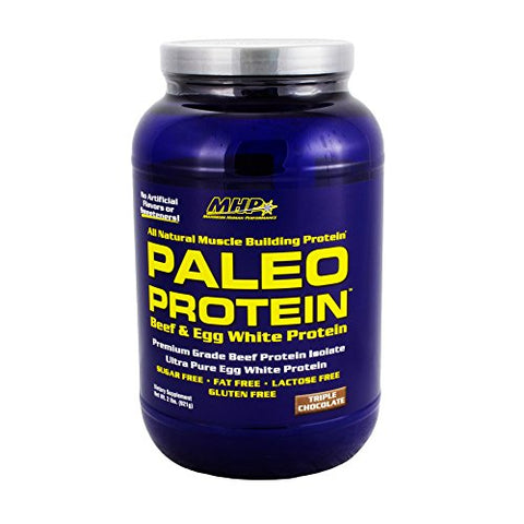 MHP Paleo Protein, Chocolate 2 LB (Pack of 1) + (Vitaminder Power Shaker Bottle, 20 oz Bottle)